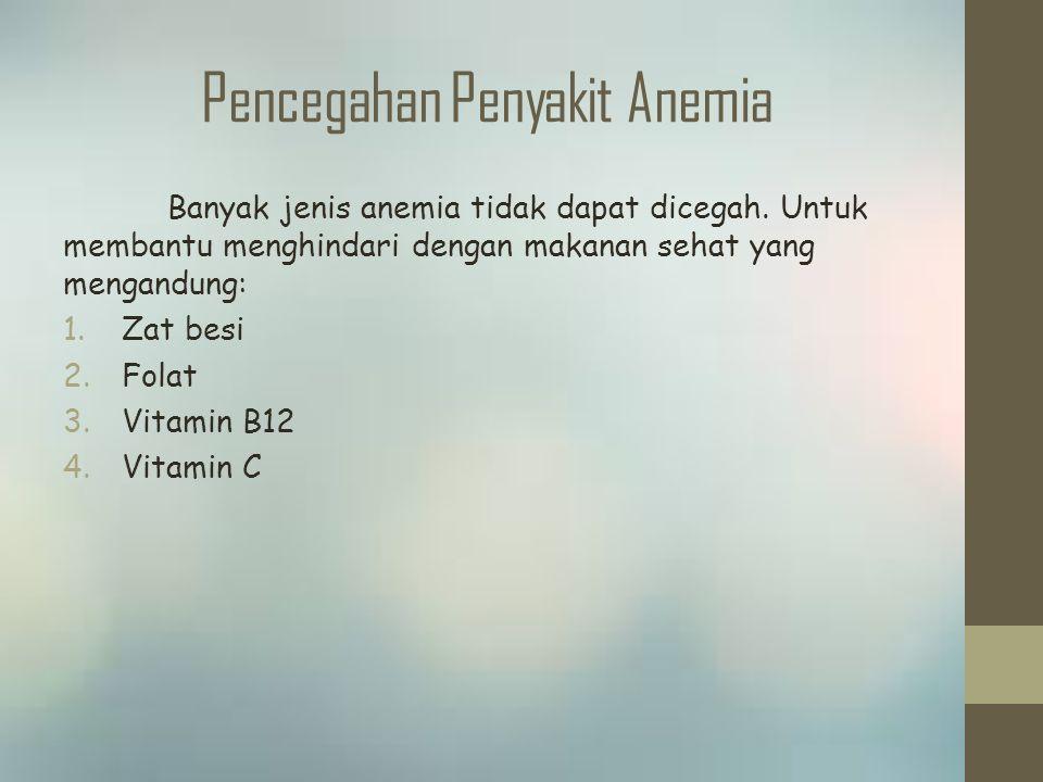 Pencegahan Penyakit Anemia