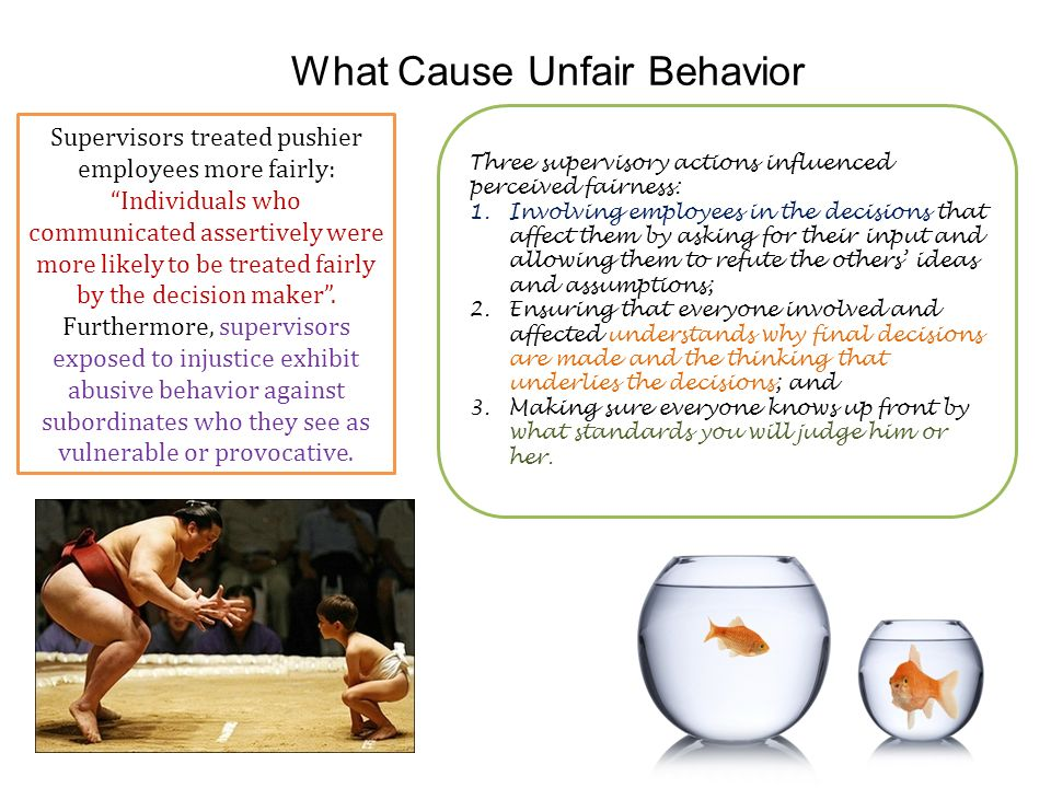 What Cause Unfair Behavior