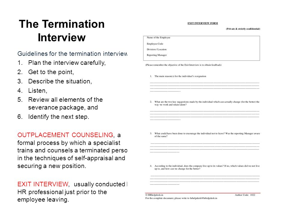 The Termination Interview