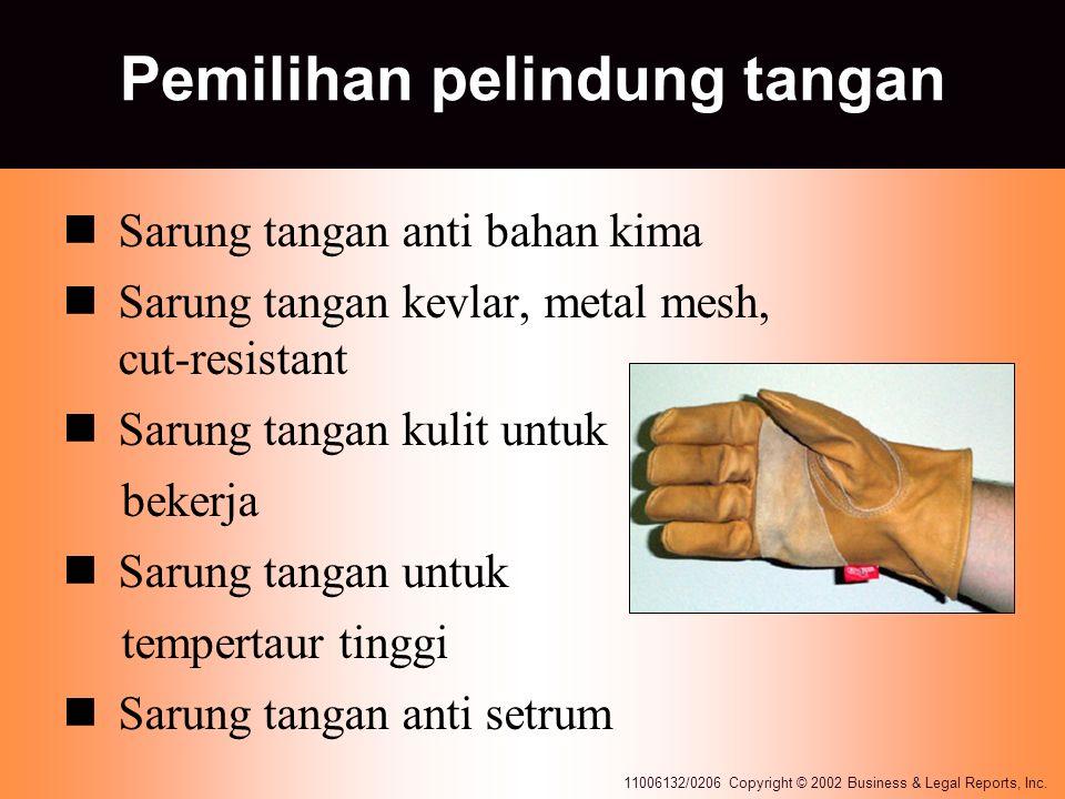 Pemilihan pelindung tangan