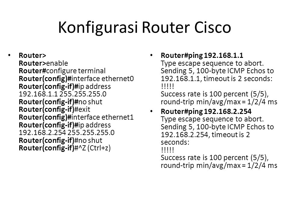 Konfigurasi Router Cisco