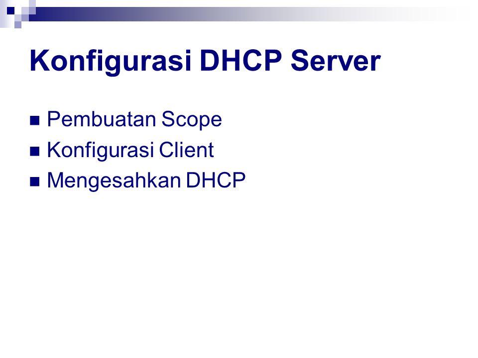 Konfigurasi DHCP Server