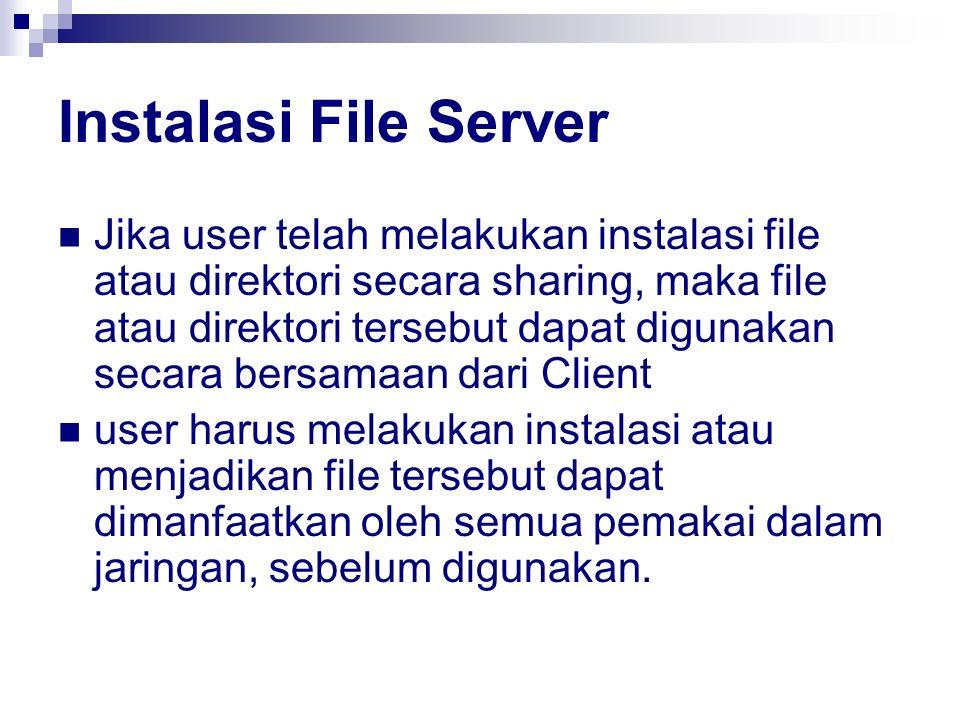 Instalasi File Server
