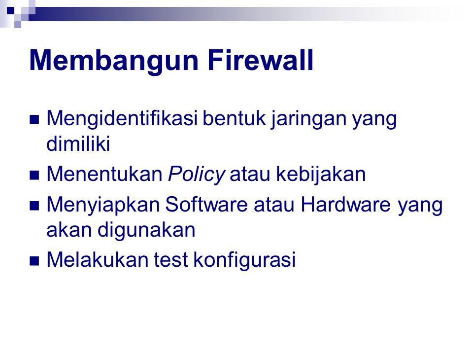 Membangun Firewall Mengidentifikasi bentuk jaringan yang dimiliki