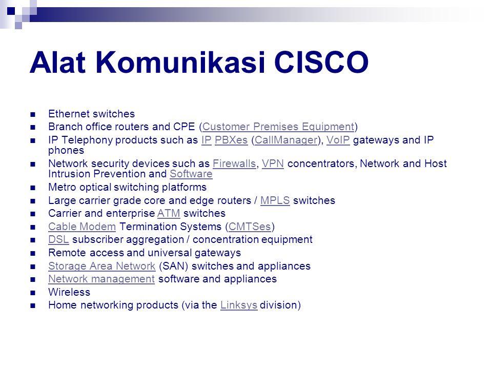 Alat Komunikasi CISCO Ethernet switches