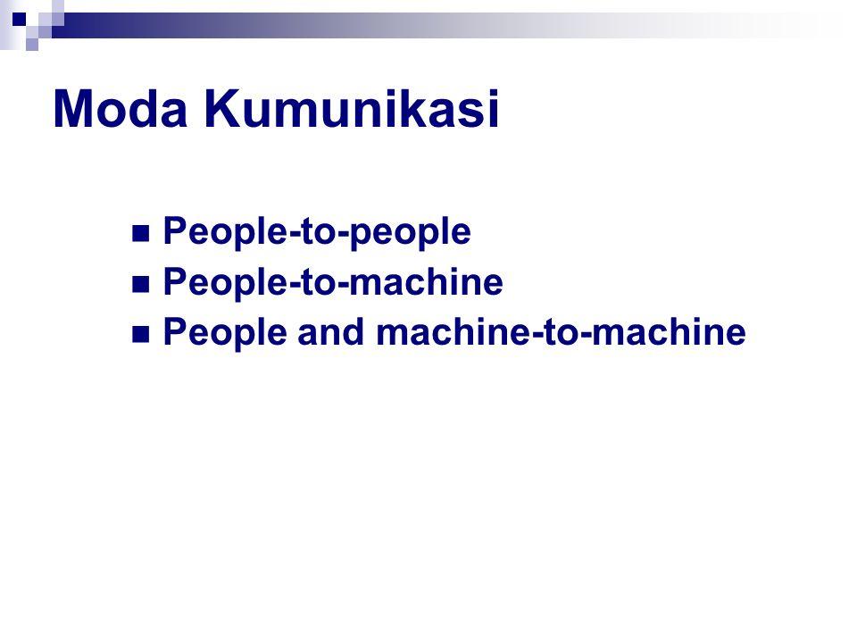 Moda Kumunikasi People-to-people People-to-machine