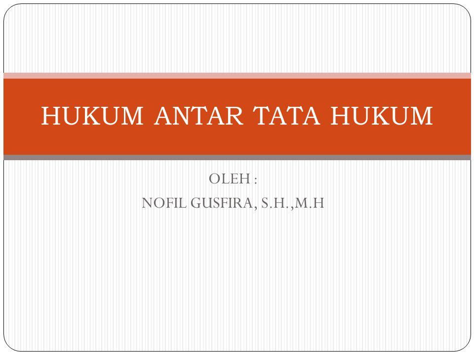 OLEH : NOFIL GUSFIRA, S.H.,M.H