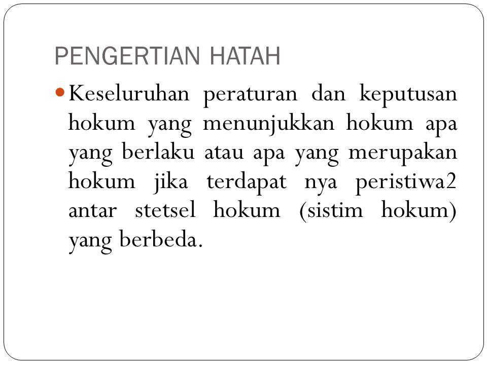 PENGERTIAN HATAH