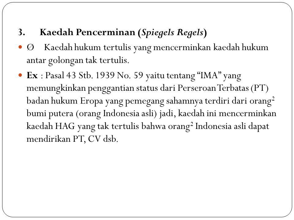 3. Kaedah Pencerminan (Spiegels Regels)