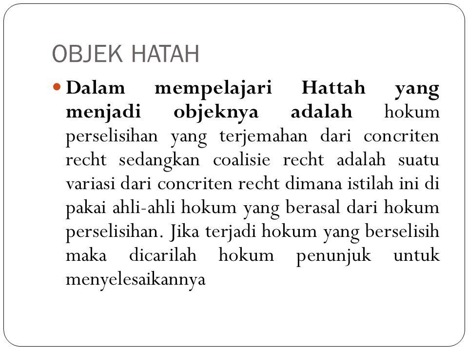 OBJEK HATAH