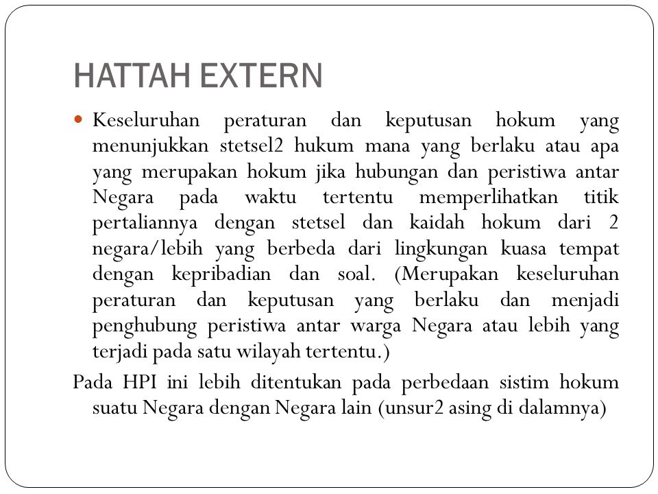 HATTAH EXTERN