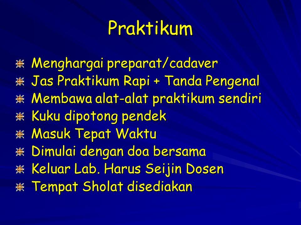 Praktikum Menghargai preparat/cadaver