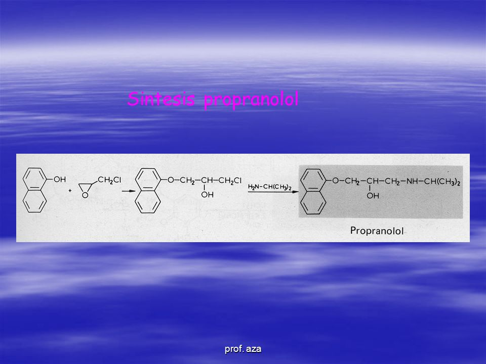 Sintesis propranolol prof. aza