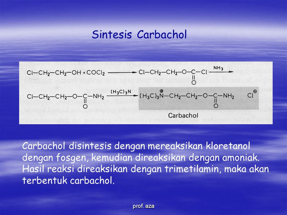 Sintesis Carbachol