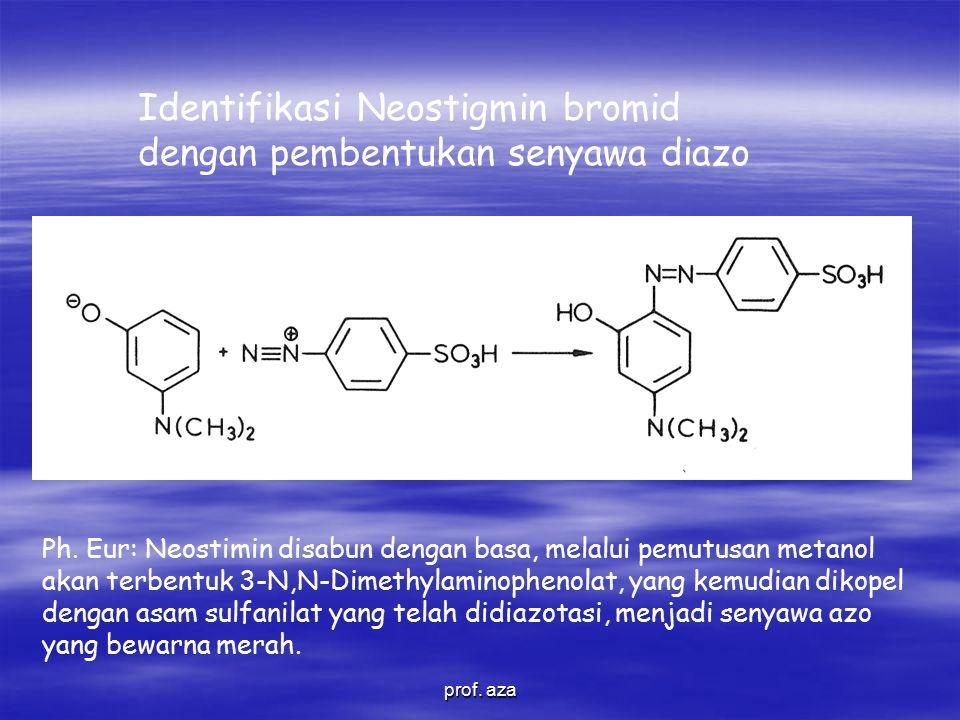 Identifikasi Neostigmin bromid dengan pembentukan senyawa diazo