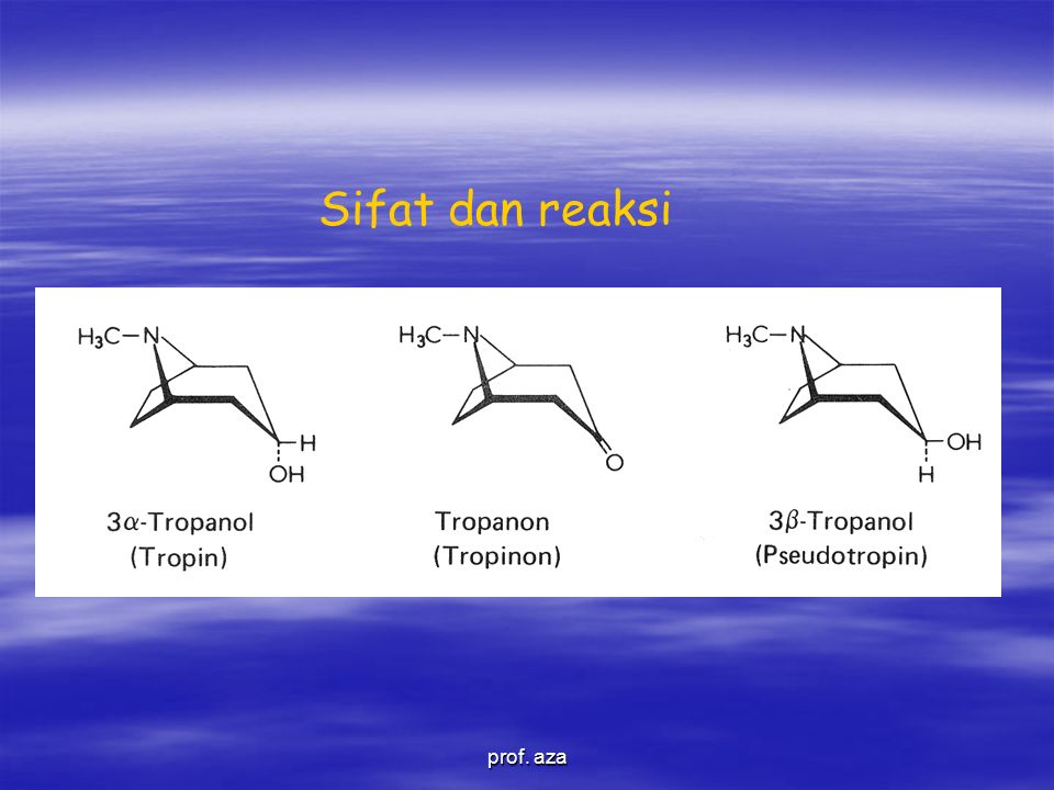 Sifat dan reaksi prof. aza