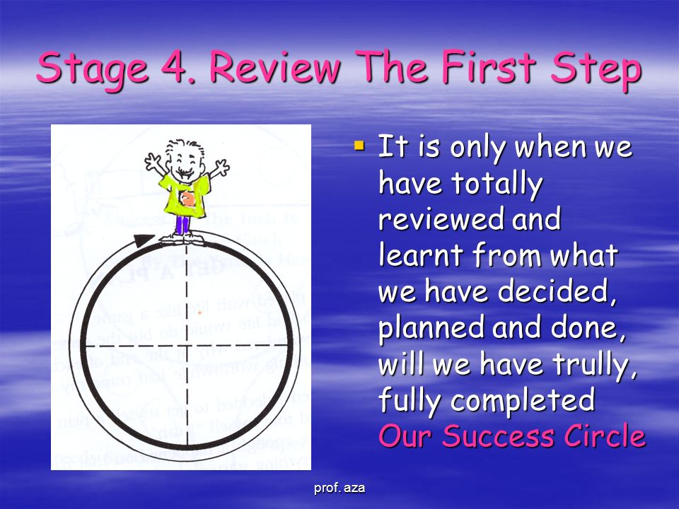 Stage 4. Review The First Step