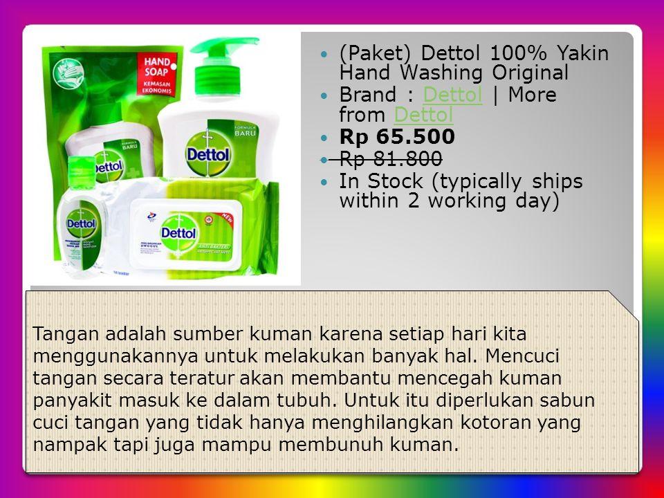 (Paket) Dettol 100% Yakin Hand Washing Original