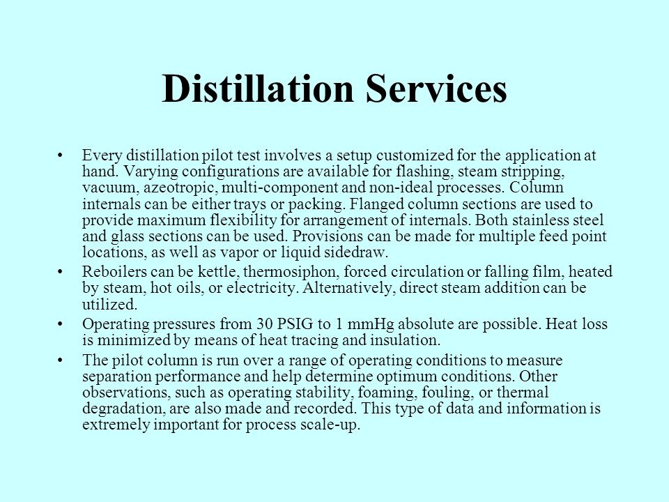 Distillation Services