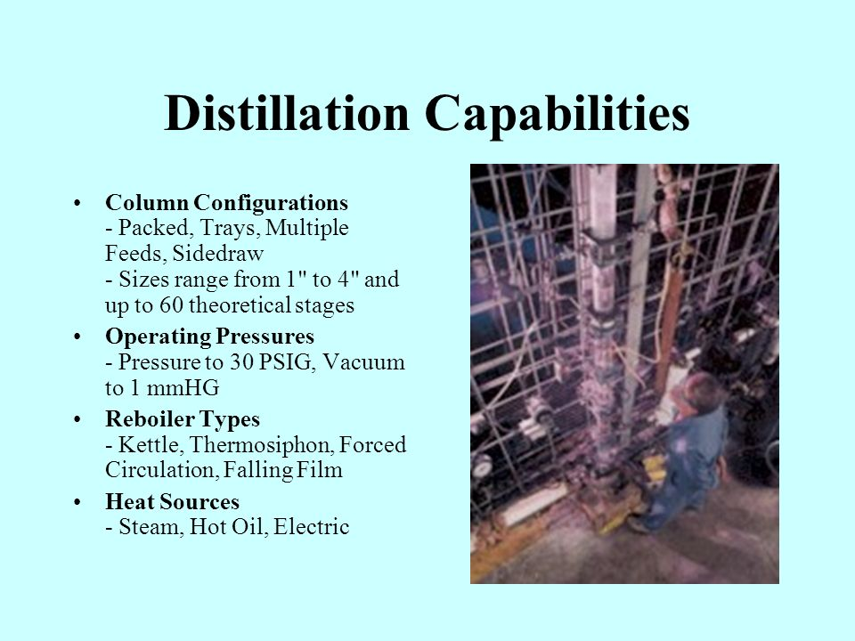 Distillation Capabilities