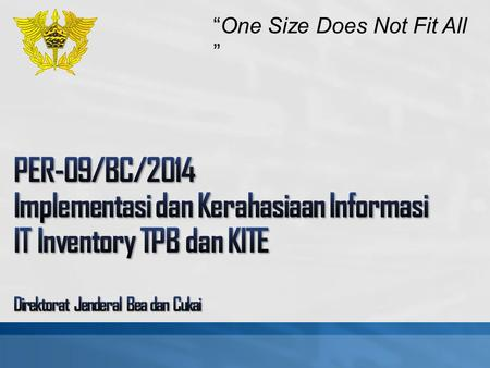 "4/7/2017 1:10 PM ""One Size Does Not Fit All """