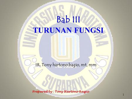 IR. Tony hartono bagio, mt, mm