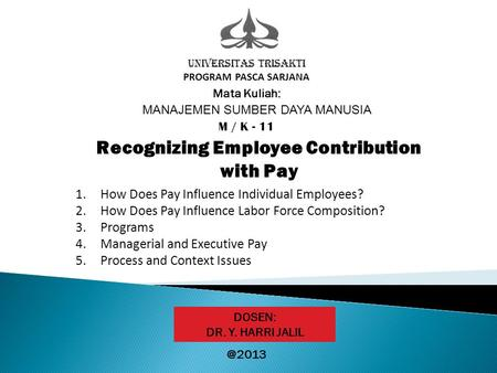 Recognizing Employee Contribution with Pay