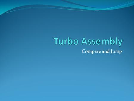 Turbo Assembly Compare and Jump.