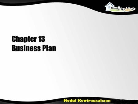 Chapter 13 Business Plan.