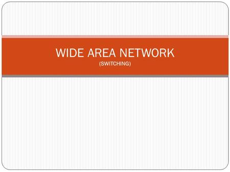 WIDE AREA NETWORK (SWITCHING)