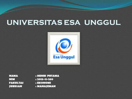 UNIVERSITAS ESA UNGGUL