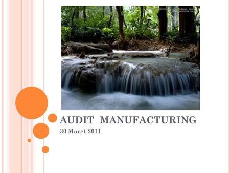 AUDIT MANUFACTURING 30 Maret 2011.