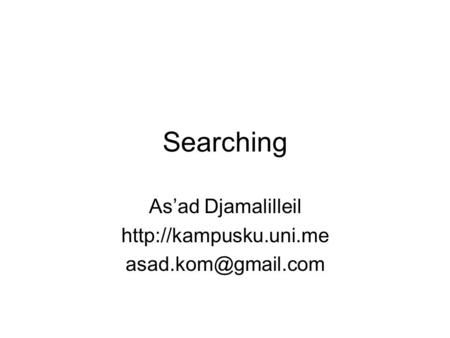 Searching As'ad Djamalilleil