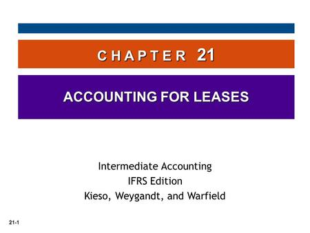 C H A P T E R 21 ACCOUNTING FOR LEASES