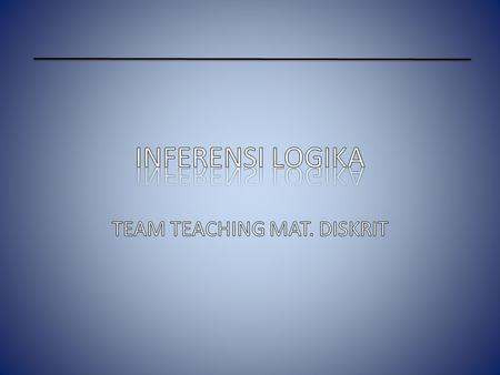 TEAM TEACHING MAT. DISKRIT