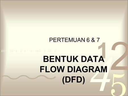 BENTUK DATA FLOW DIAGRAM (DFD)