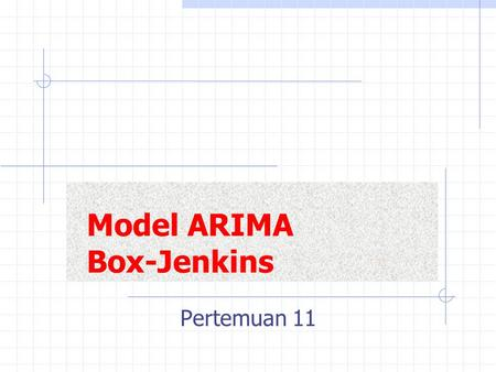 Model ARIMA Box-Jenkins