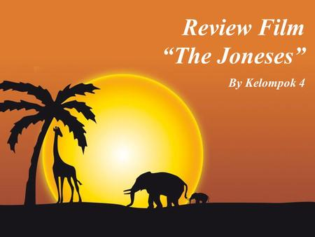 "Review Film ""The Joneses"" By Kelompok 4."