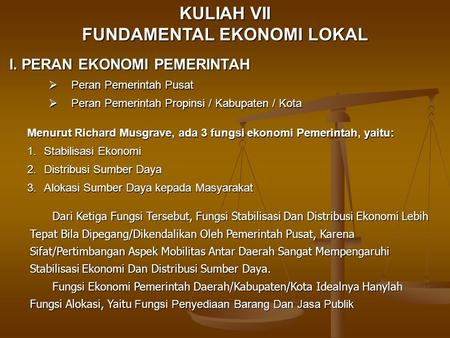 FUNDAMENTAL EKONOMI LOKAL