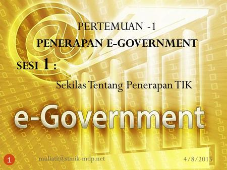 PENERAPAN E-GOVERNMENT