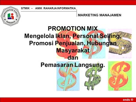 MARKETING MANAJAMEN PROMOTION MIX