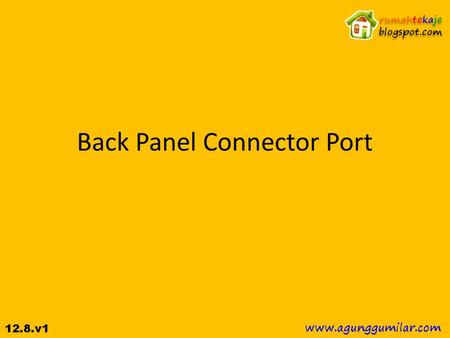 Back Panel Connector Port