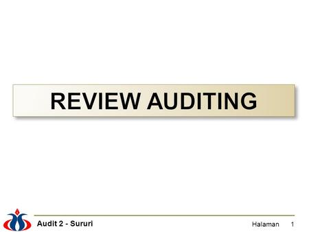 REVIEW AUDITING Halaman.