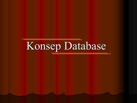 Konsep Database. S D L C Strategy and Analysis Design Build n Document Transition Production.