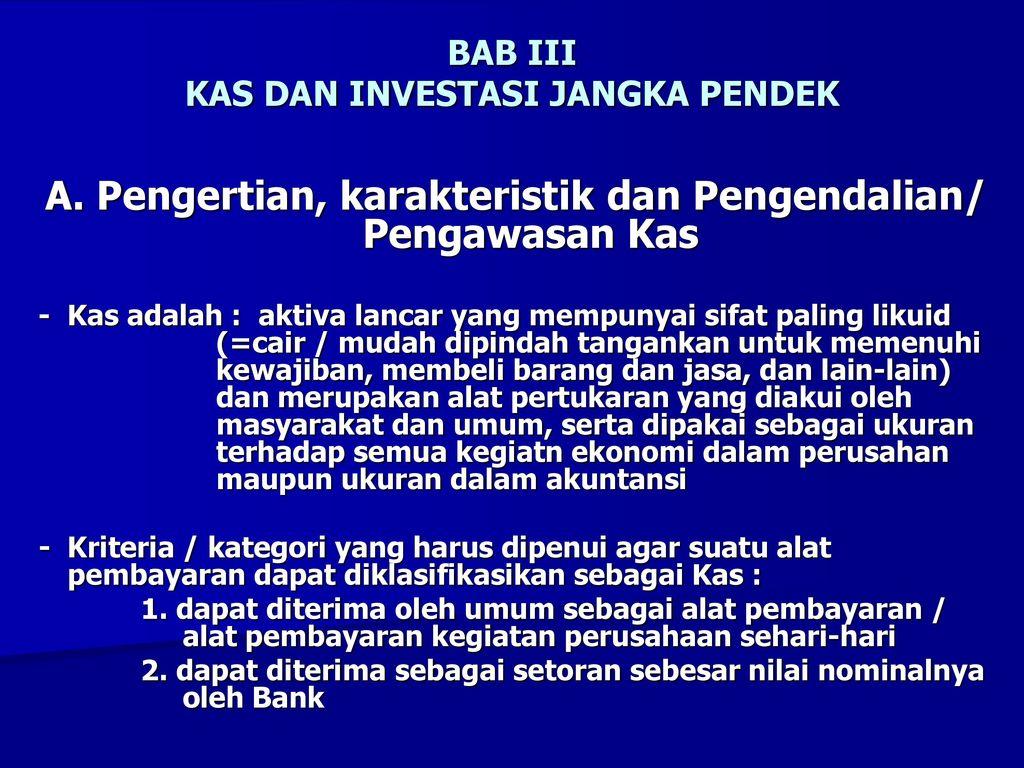 Bab Iii Kas Dan Investasi Jangka Pendek Ppt Download