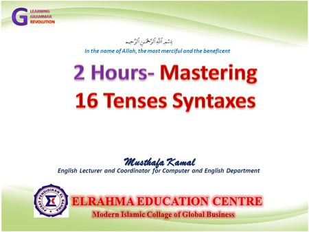 2 Hours- Mastering 16 Tenses Syntaxes