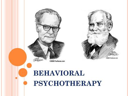 behavioral psychotherapy