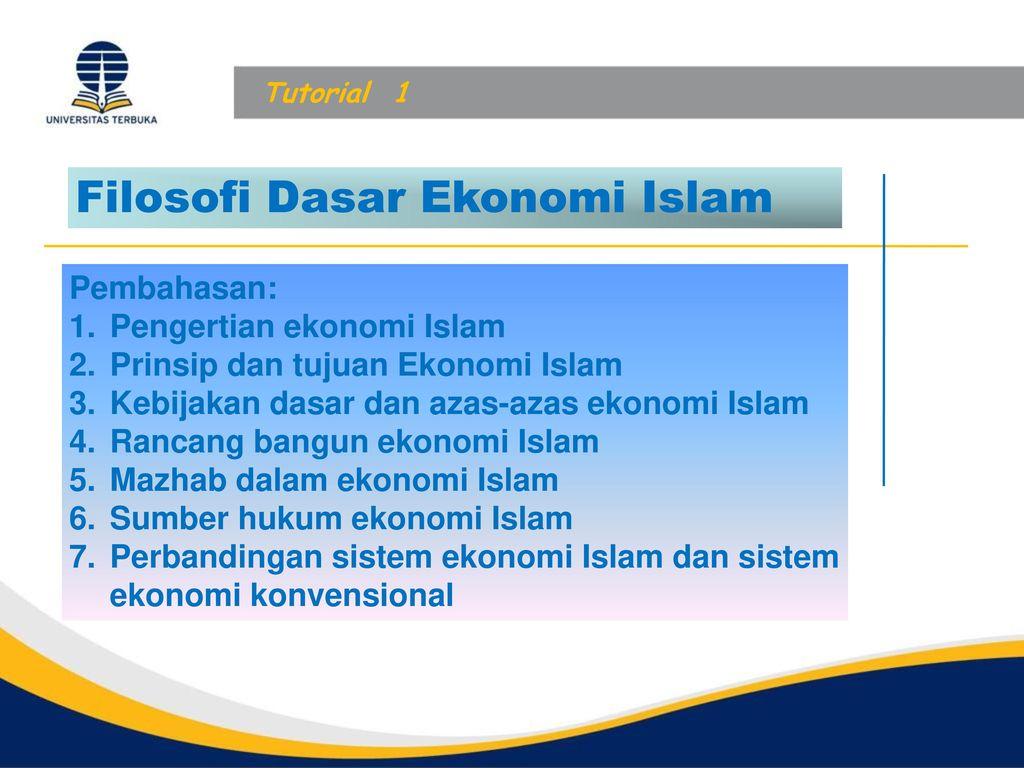 Filosofi Dasar Ekonomi Islam Ppt Download