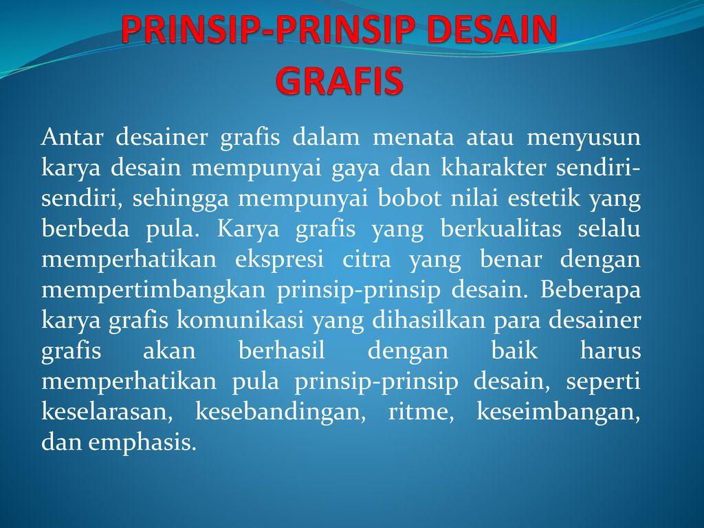 Prinsip Prinsip Desain Grafis Ppt Download