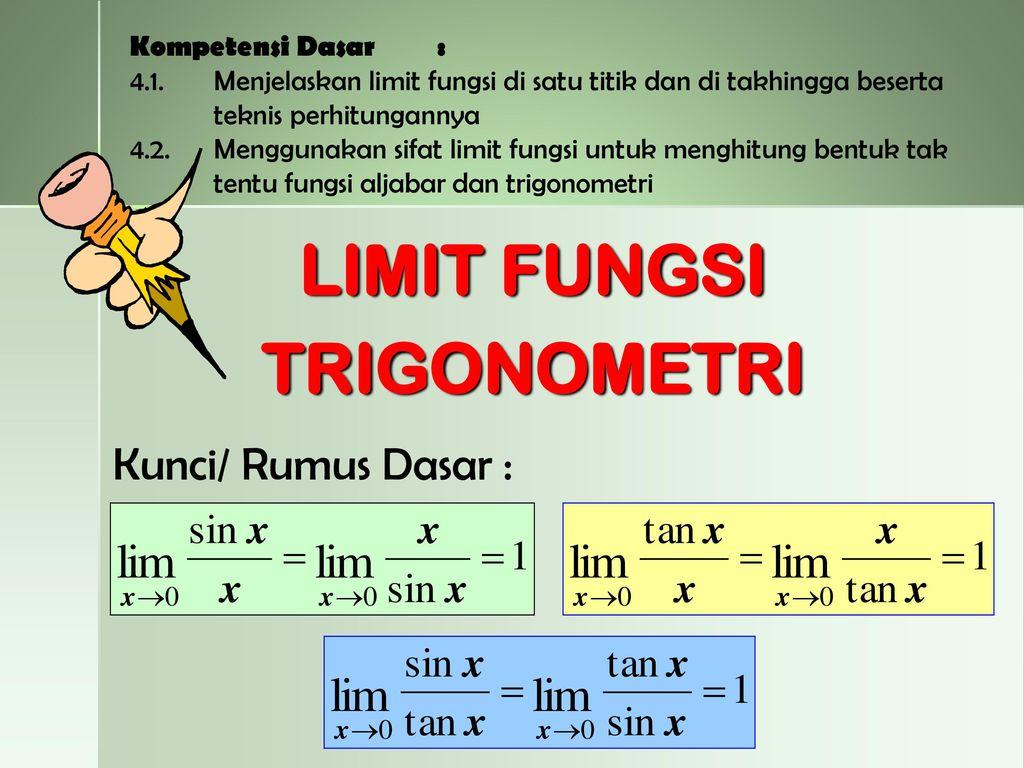 Limit Fungsi Trigonometri Ppt Download
